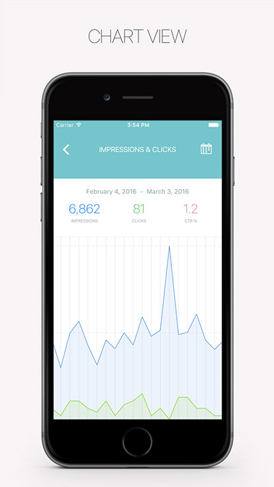 RankBuddy App für iOS - ChartView