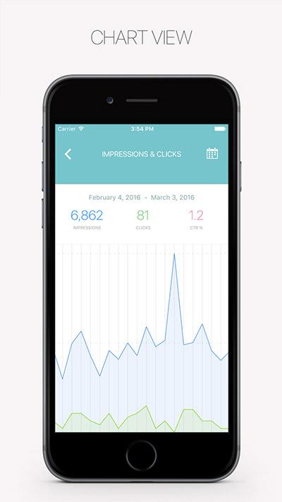 RankBuddy App für iOS - ChartView